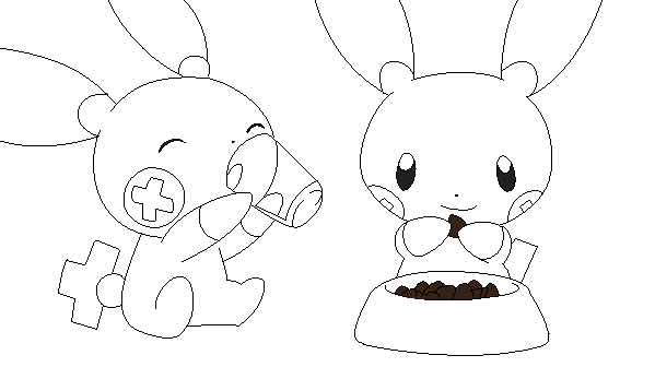 minun coloring pages - photo#10