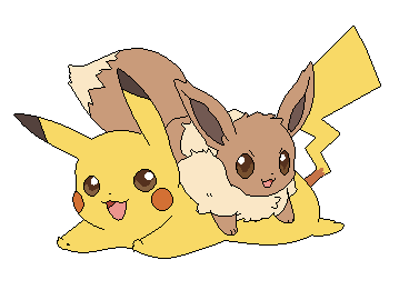 Eevee And Pikachu Base by michy123