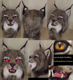 Canadian Lynx fursuit head
