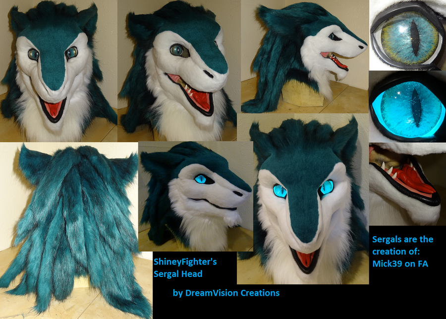 Shineyfighter's Sergal head complete by DreamVisionCreations
