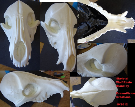 Skeletal k9 mask blank upper skull by DreamVisionCreations