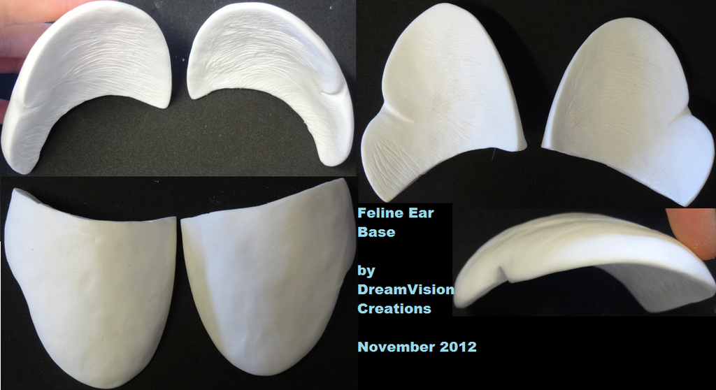 Feline Ear Bases by DreamVisionCreations