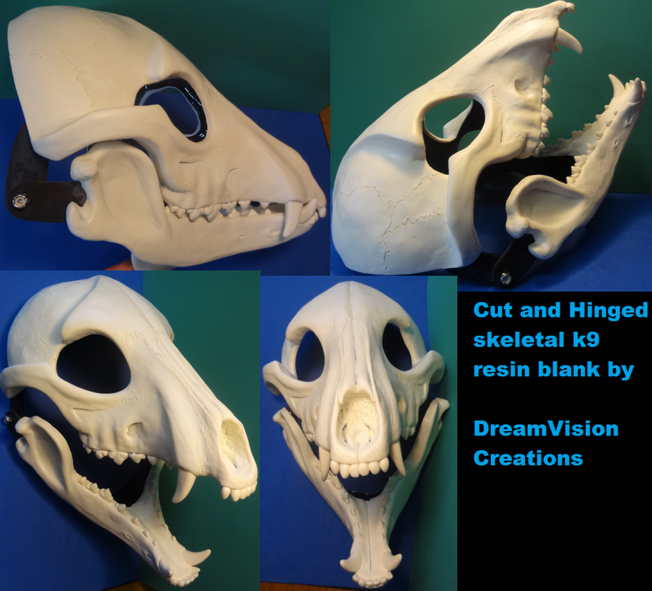 Cut And Hinged Skeletal K9 by DreamVisionCreations