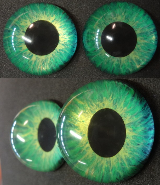 4cm 3D Green Eyes by DreamVisionCreations