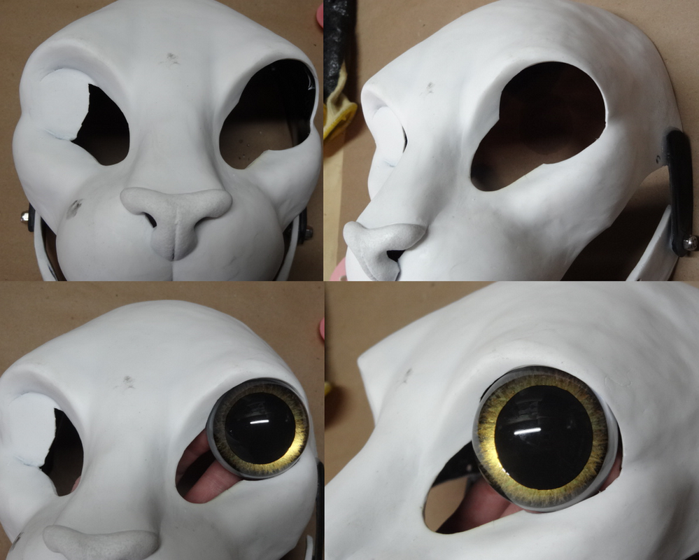 Adding Large Eyes to our resin blanks by DreamVisionCreations