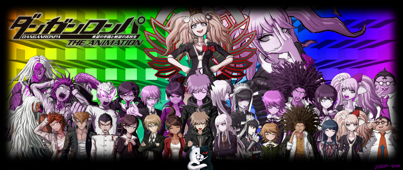 Danganronpa the animation ultrawide wallpaper by zaxisa for Where can i purchase wallpaper