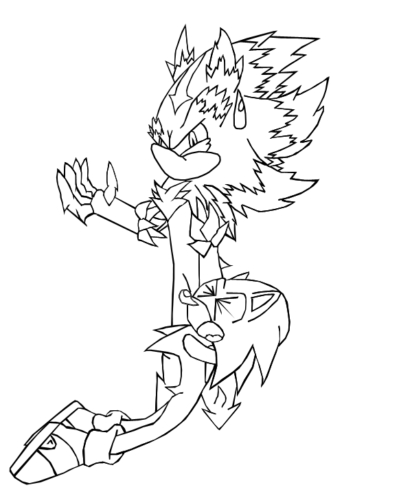 sonic mephiles coloring pages - photo#10