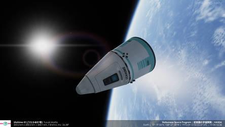 Utahime capsule in orbit