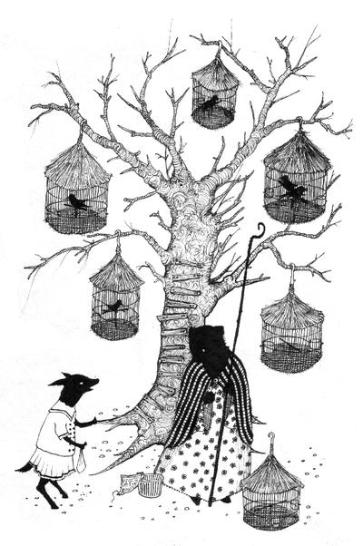 Auntie Bear's Bird Shop by pink-porcupine