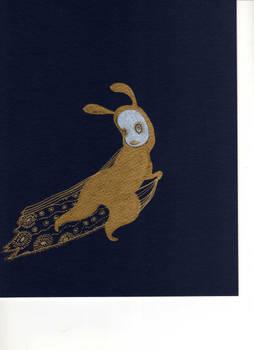 Gold Bunny Running