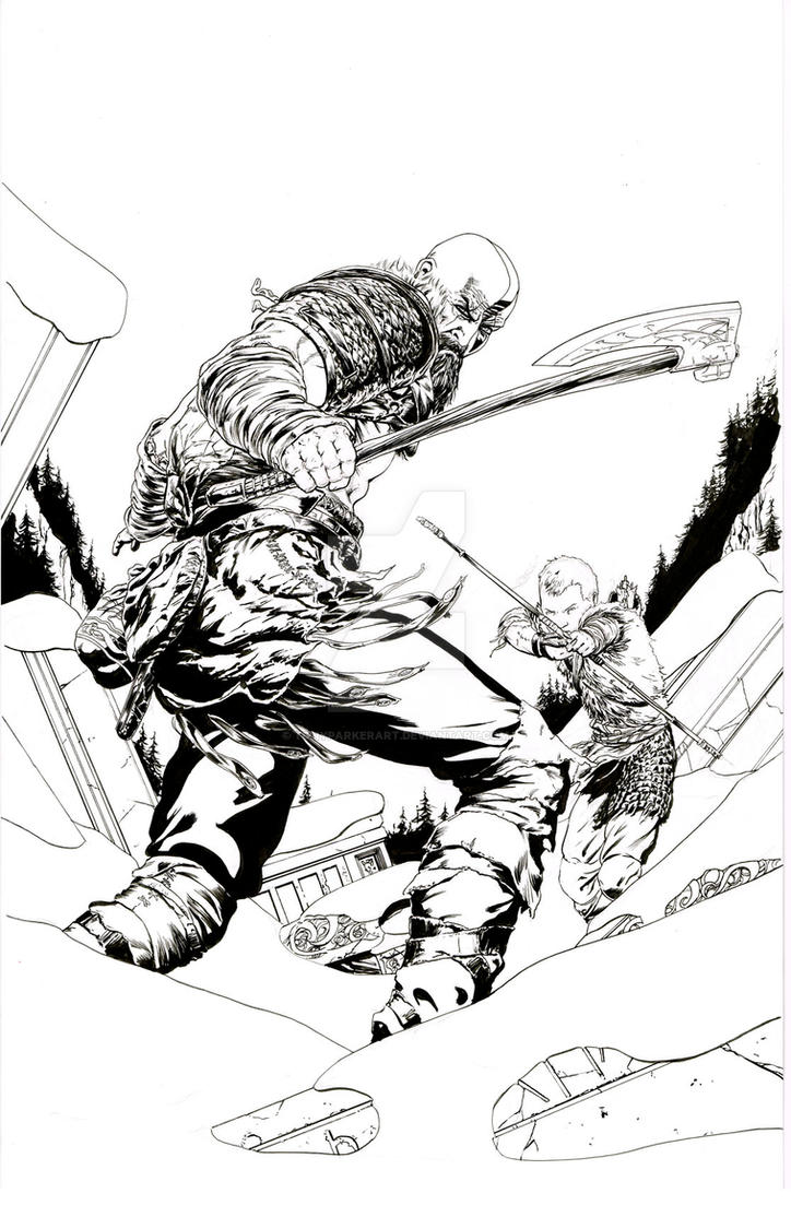 Kratos2Ink by TonyParkerArt