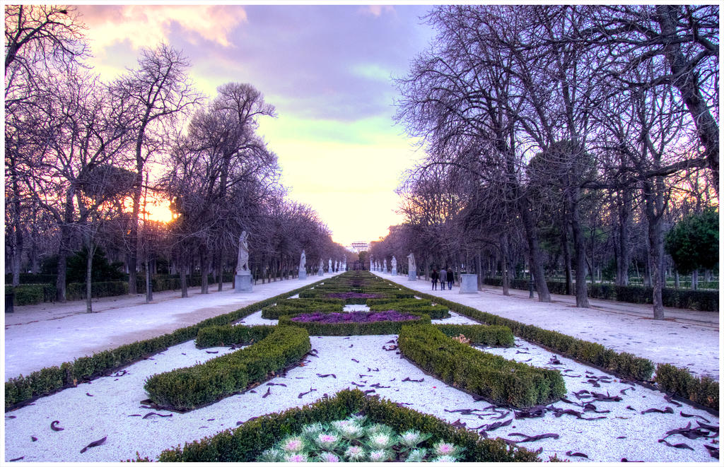 Madrid park in the winter by SebKaiser