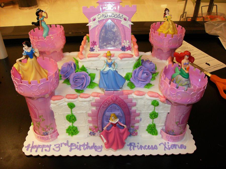 Disney Princess Castle Cake By Kaoruscherryblossom On Deviantart