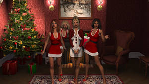 Four Ashe Girls Caroling by RagingCyc0ne
