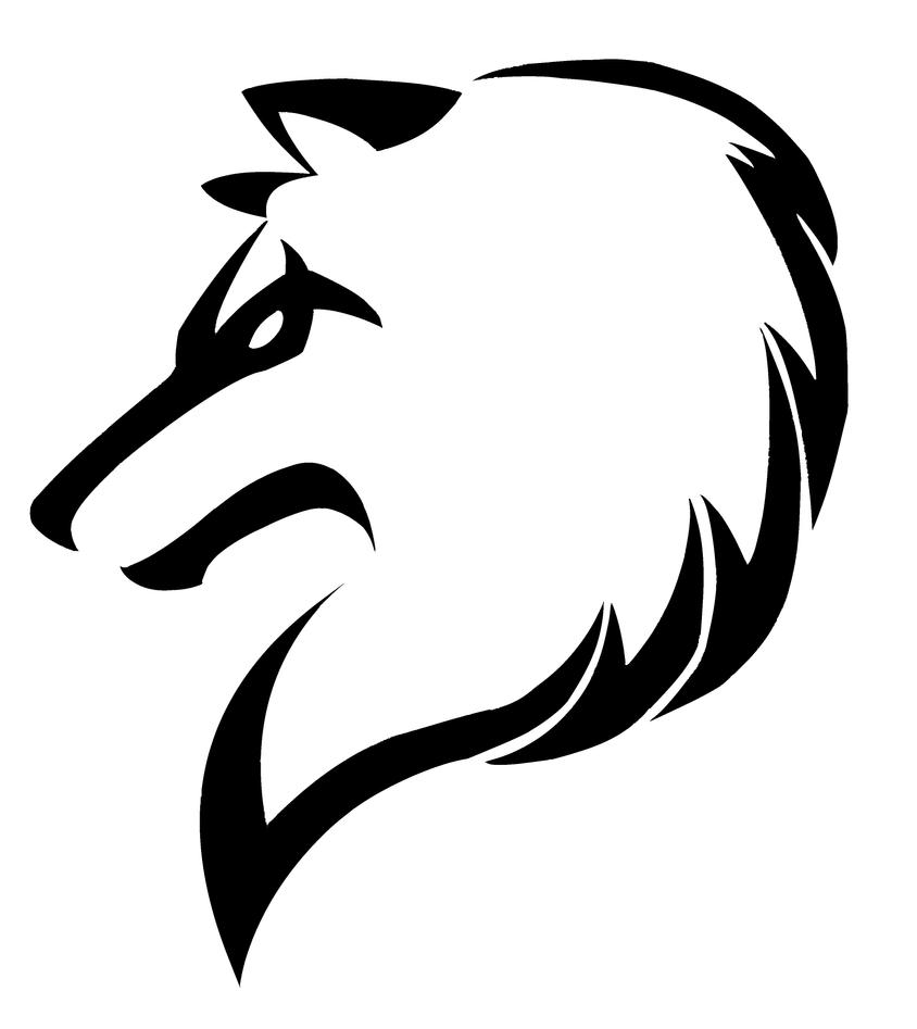 Lineart Wolf Tattoo : Tribal wolf by justatry on deviantart