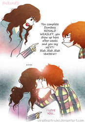 Kiss the Girl - Ron X Hermione by olrakbustrider