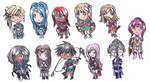 [SMG] Chibi's in Sol Senshi Outfits by shuu-bunni
