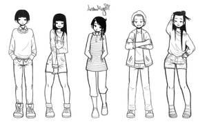 Casual Group 5 by AnimeMeg27