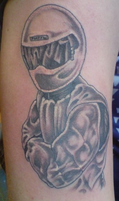 A Tattoo of The Stig from Top Gear