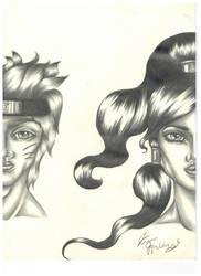 Korra and Naruto by korwis
