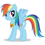 Rainbow Dash with Loyalty Necklace