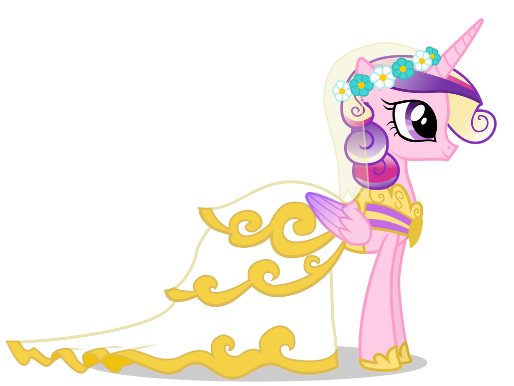 Princess cadance in wedding dress by 90sigma