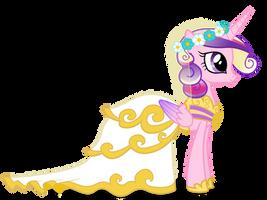 Princess Cadance in Wedding Dress by 90Sigma