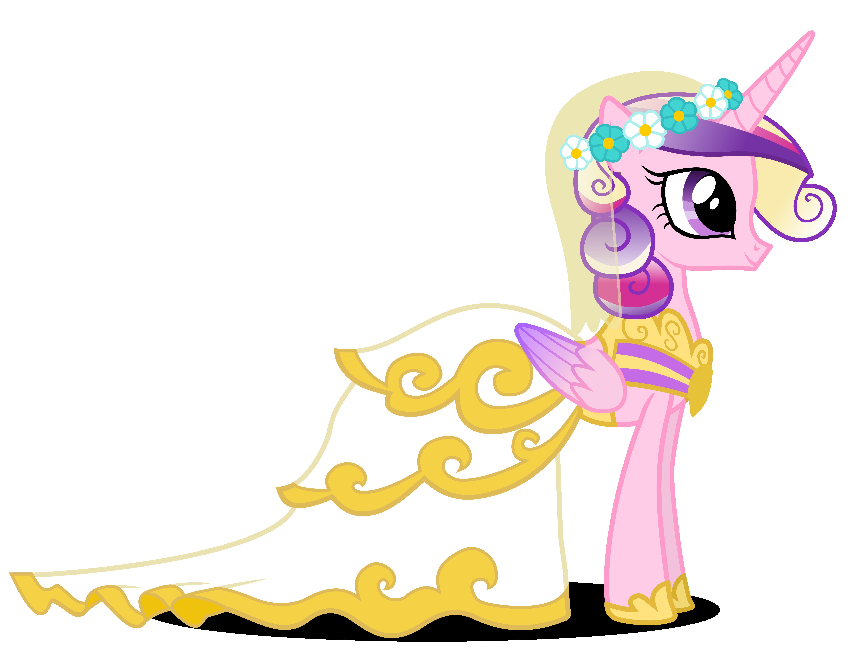 Princess Cadance in Wedding Dress by 90Sigma on DeviantArt