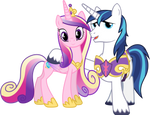 Princess Cadance and Shining Armour