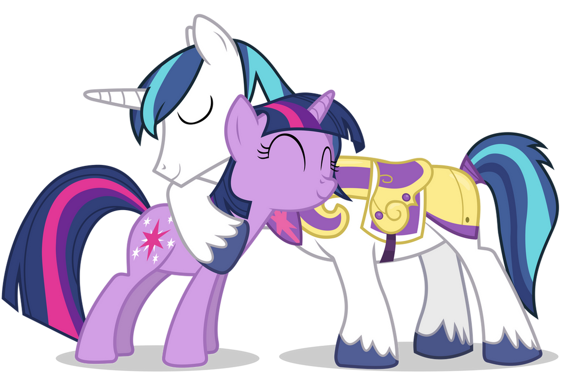 Shining Armour and Twilight Sparkle Hugging (1) by 90Sigma