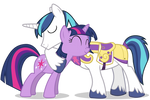 Shining Armour and Twilight Sparkle Hugging (1)
