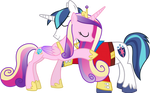 Princess Cadance and Shining Armour Hugging