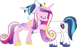 Cadance and Shining Hugging (No Tuxedo Version)