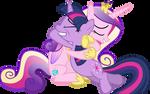 Cadance and Twilight Hugging (Nml Cadance Version)