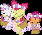 Cutie Mark Crusaders as Flower Fillies