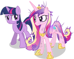 Sceptical Princess Cadance and Twilight Sparkle