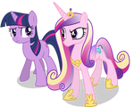 Sceptical Cadance and Twilight (Nml Cadance Ver)