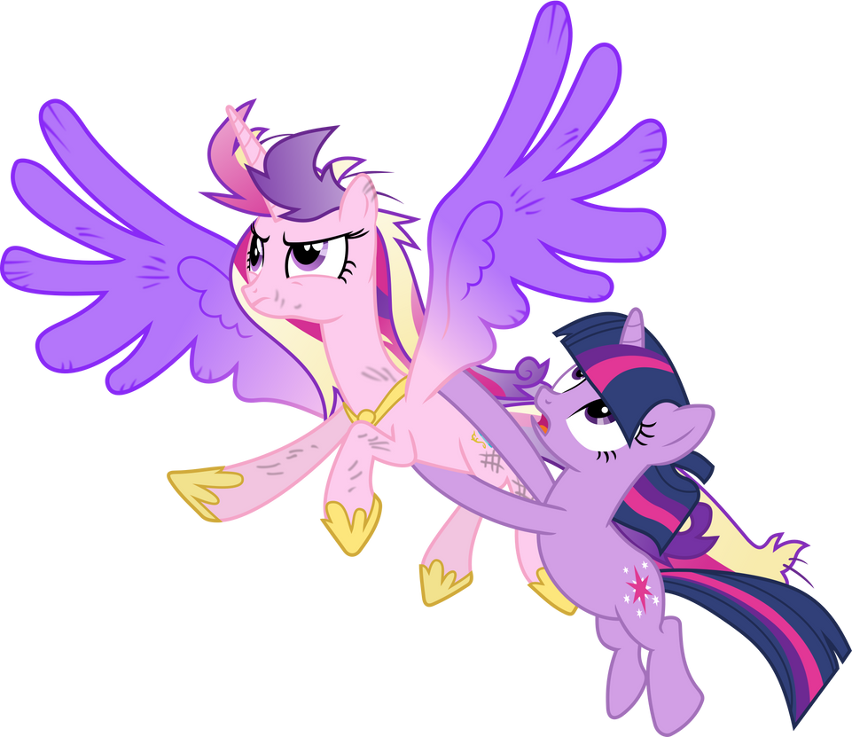 Princess Cadance and Twilight Sparkle Flying by 90Sigma on DeviantArt