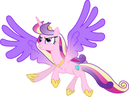 Princess Cadance in Flight by 90Sigma