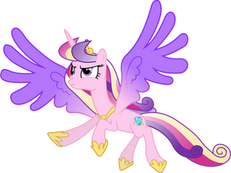 Princess Cadance in Flight by 90Sigma