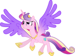 Princess Cadance in Flight