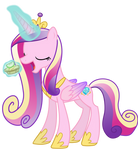 Princess Cadance Noms a Bitesize Apple Fritter
