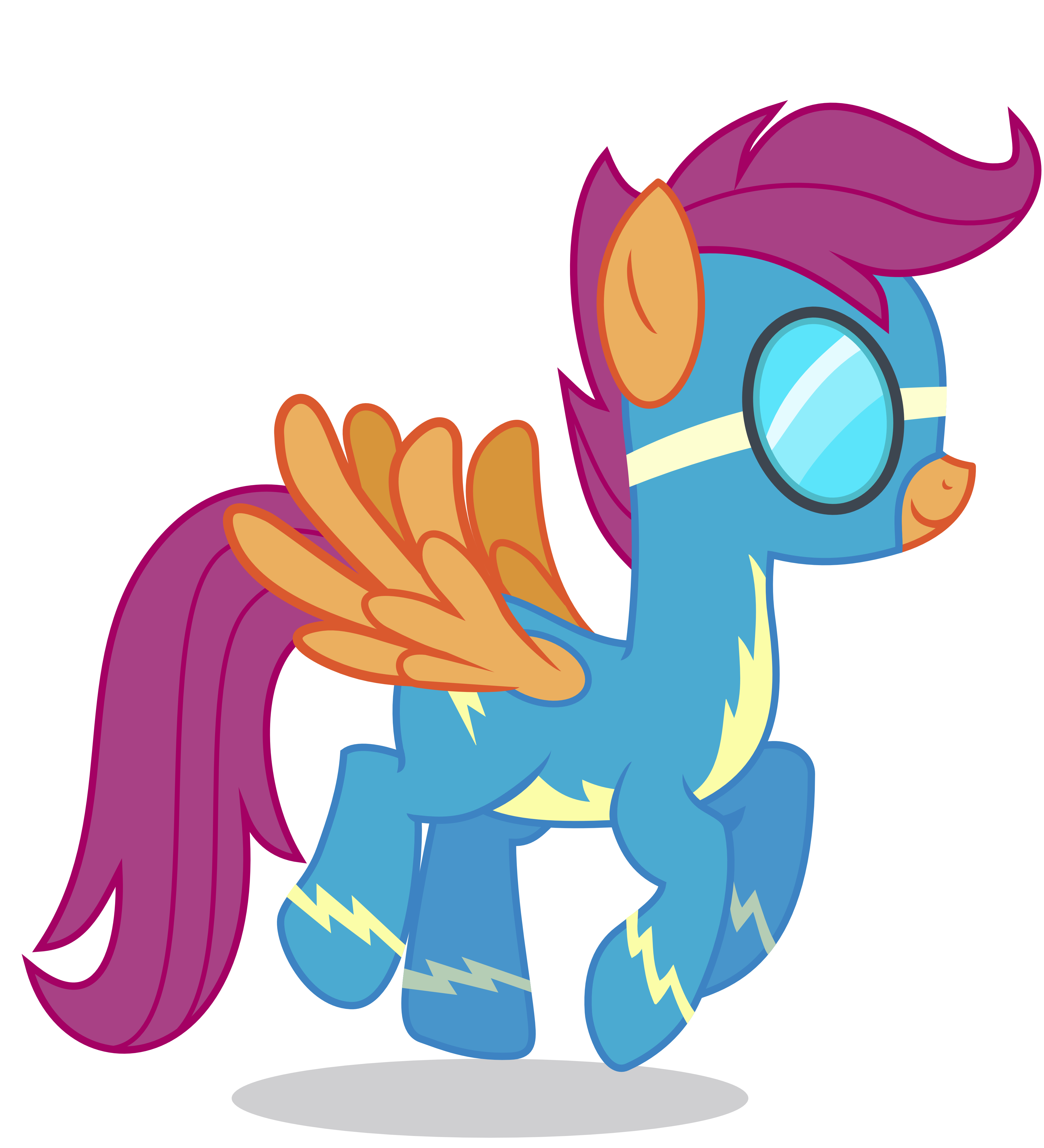 Scootaloo As A Wonderbolt By 90sigma On Deviantart By exelzior, posted 5 years ago pron artist. deviantart