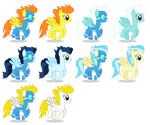 Background Wonderbolts Ponies (Female)