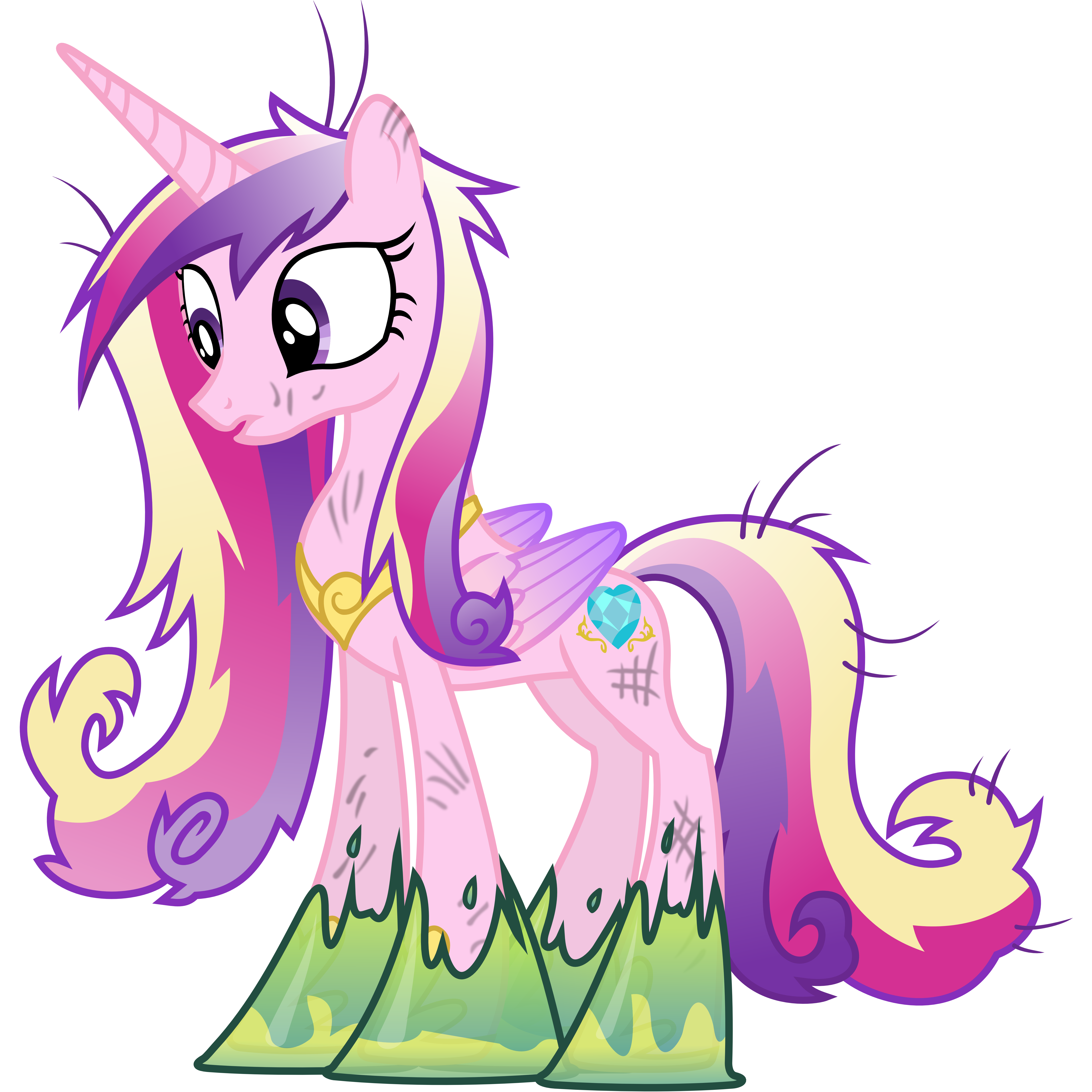 Princess Cadance Trapped in Goop