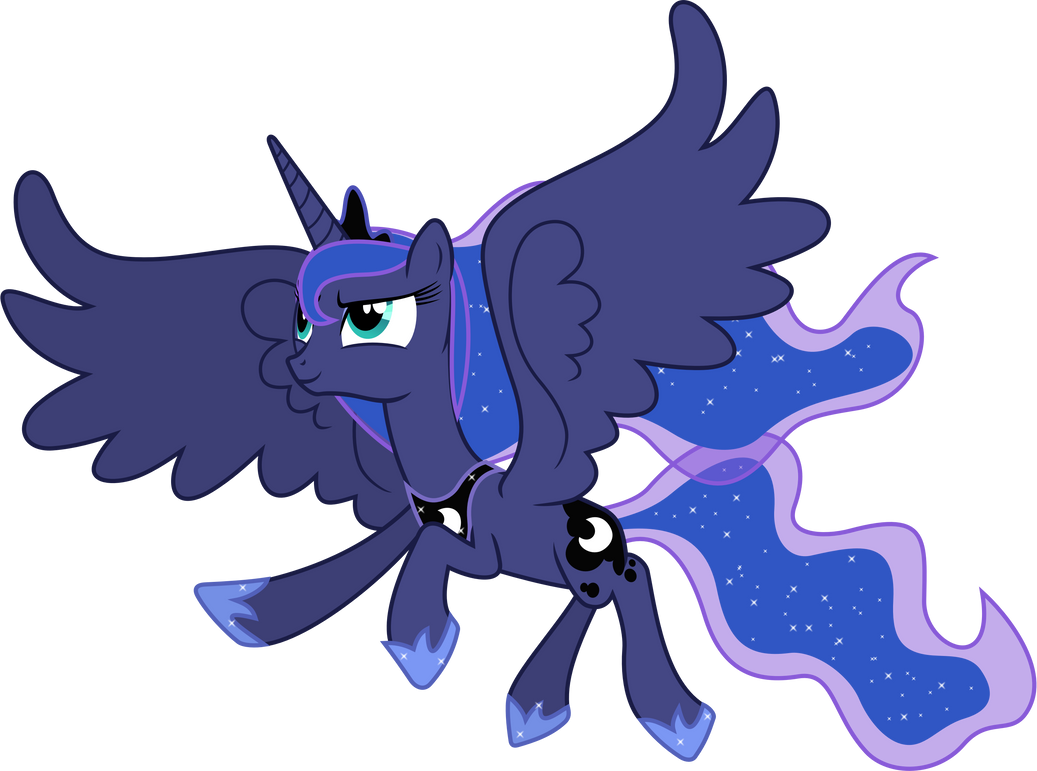 Princess Luna in Flight by 90Sigma