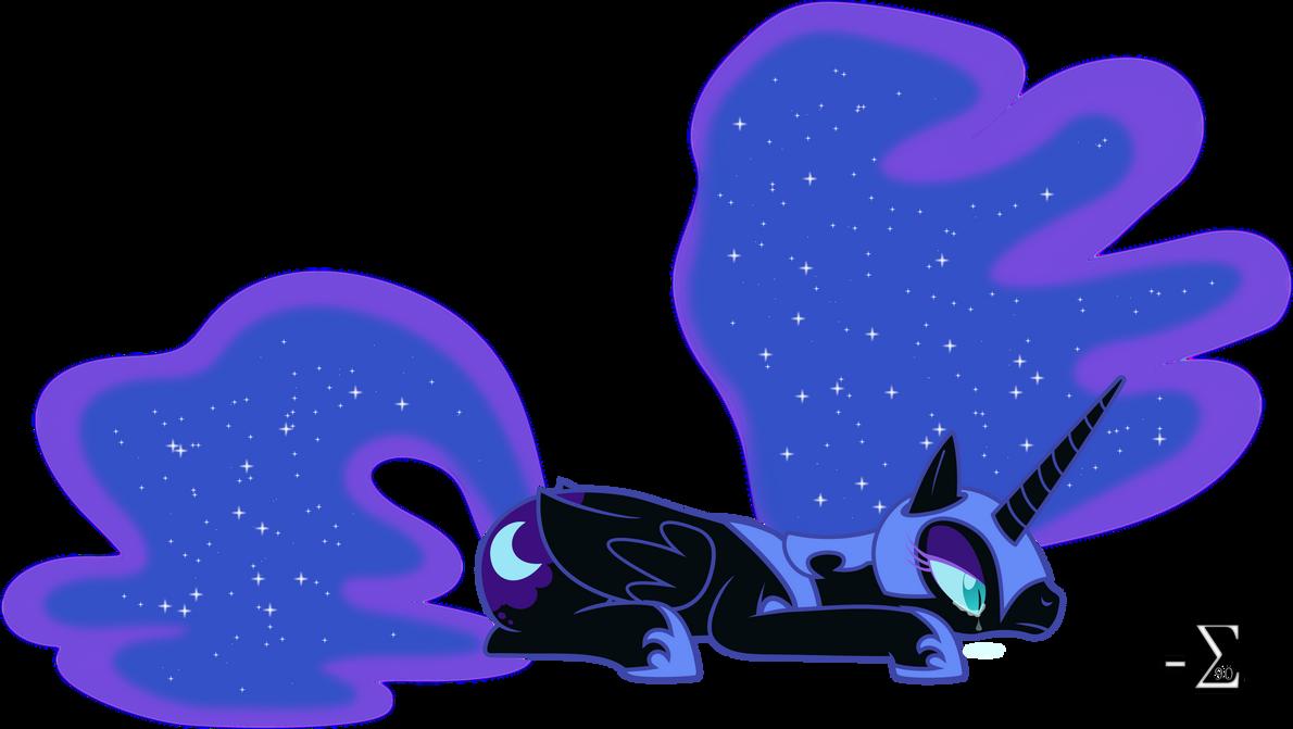 Upset Nightmare Moon by 90Sigma