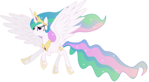Princess Celestia in Flight