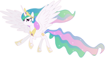 Princess Celestia in Flight