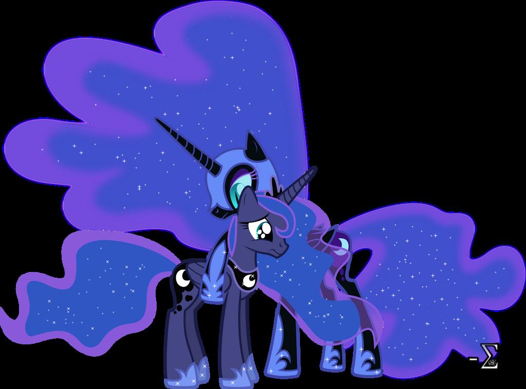 Nightmare Moon Comforts Princess Luna (1) by 90Sigma